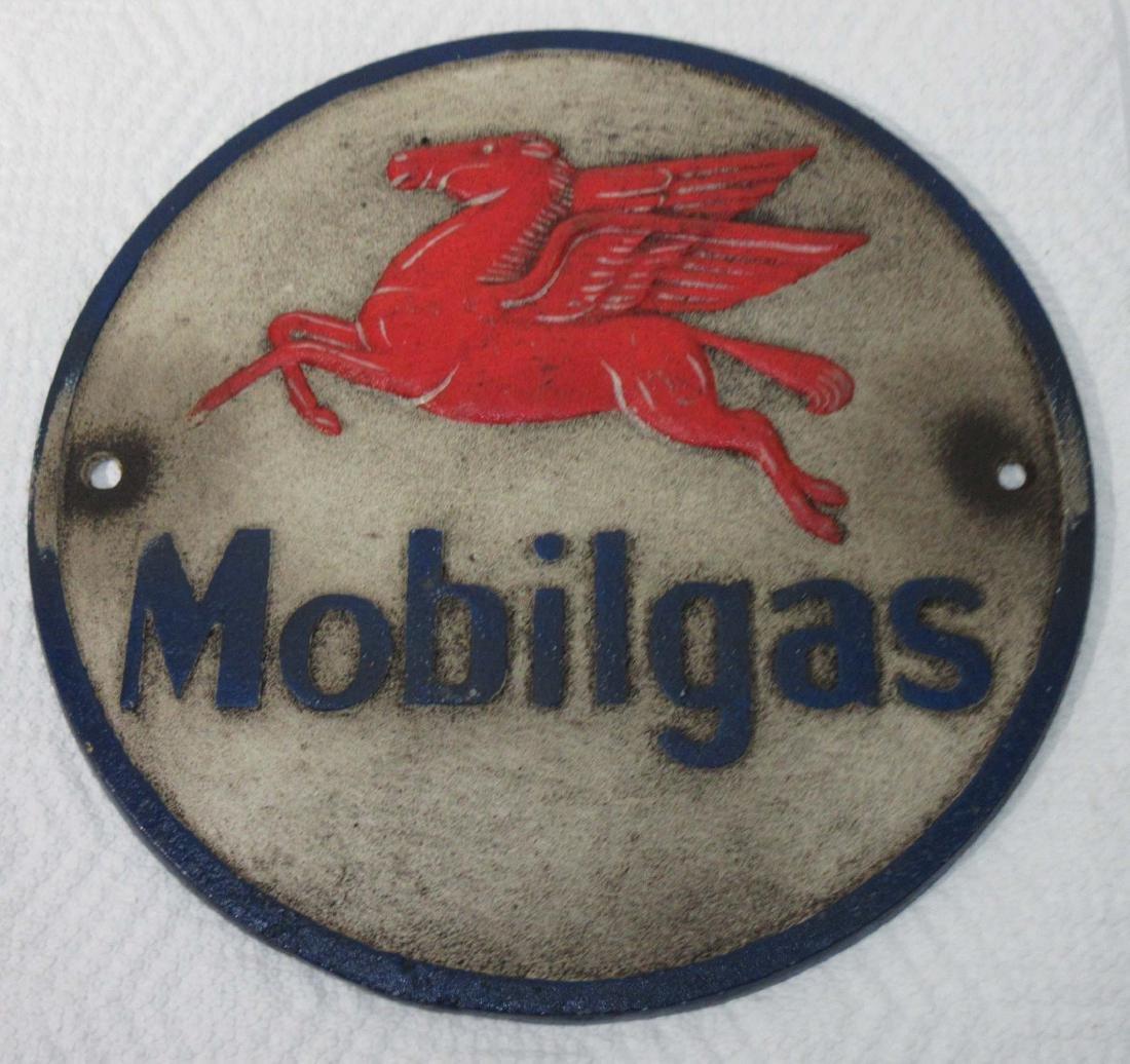 Modern Cast Iron Mobilgas Pegasus Sign