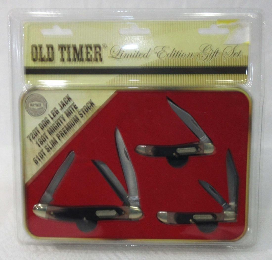 3 Schrade Old Timer Pocket Knives Orig. Pkg.