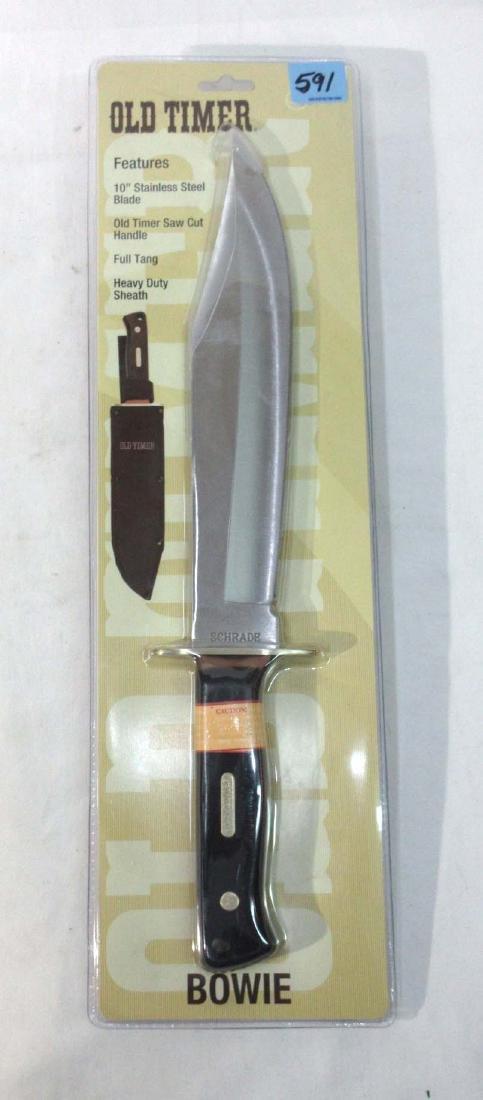 Schrade Old Timer Bowie Knife Orig. Pkg