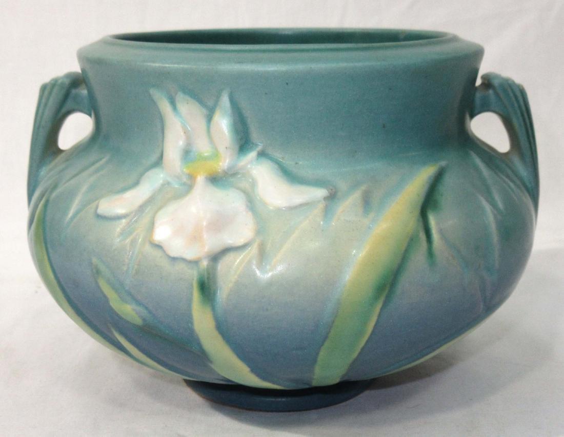 Roseville Pottery Vase  Iris
