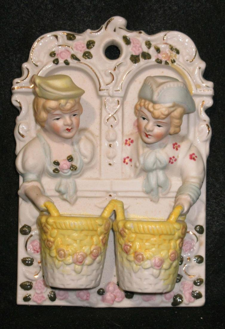Porcelain Figural Double Match Safe