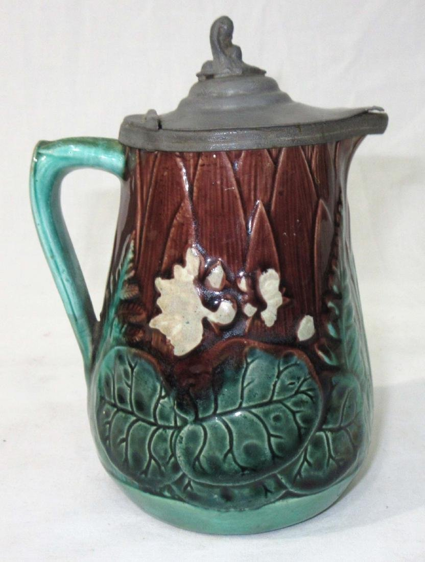 Majolica Syrup Pitcher - 2
