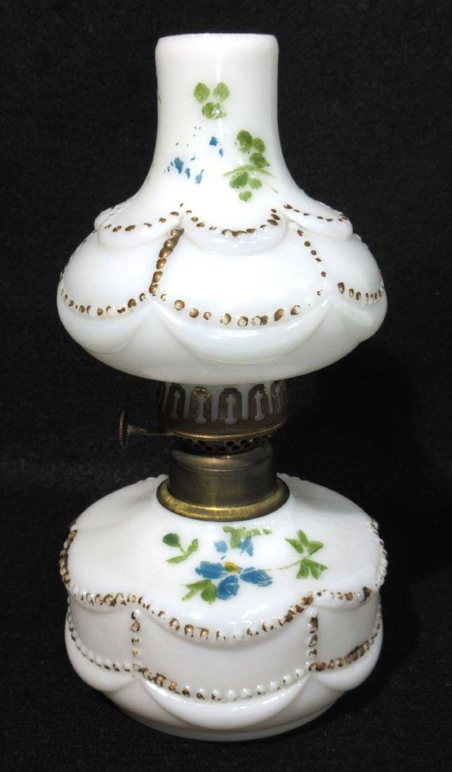 Vtg. Miniature Oil Lamp
