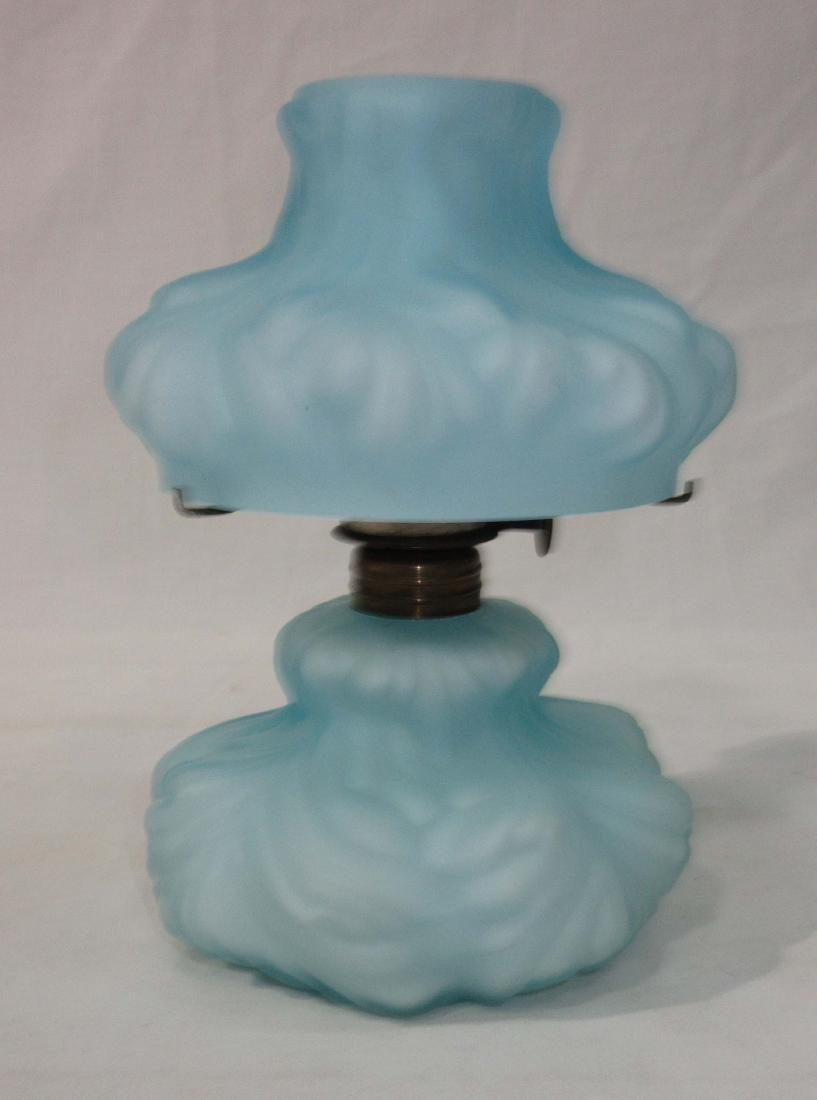 Vtg. Miniature Cased Glass Oil Lamp