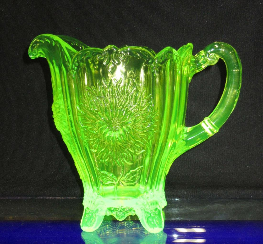 Vaseline Glass Water Pitcher