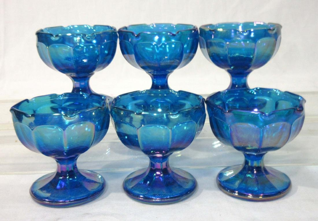 Set of 6 Pedestal Individual Salts