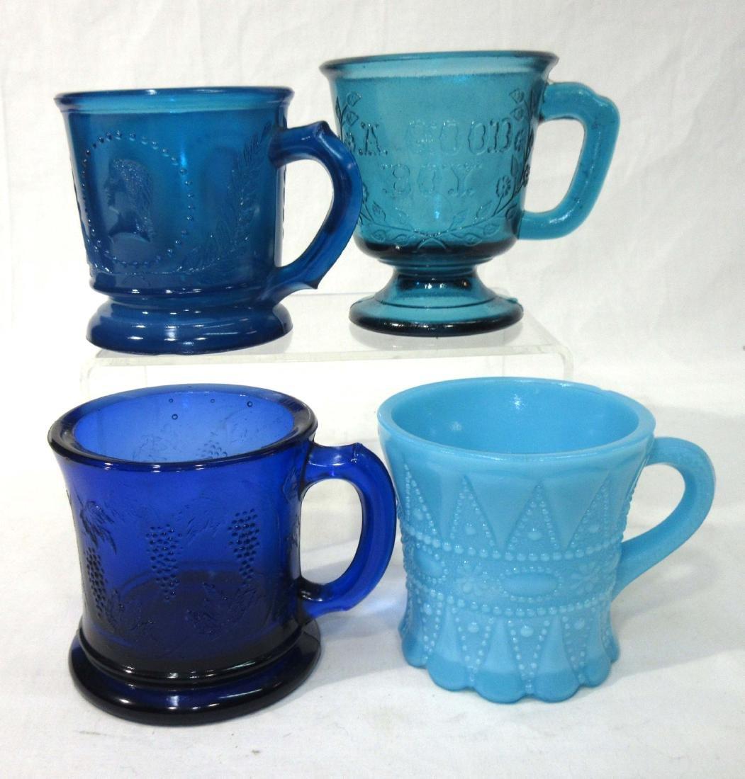 4 EAPG Glass Mugs