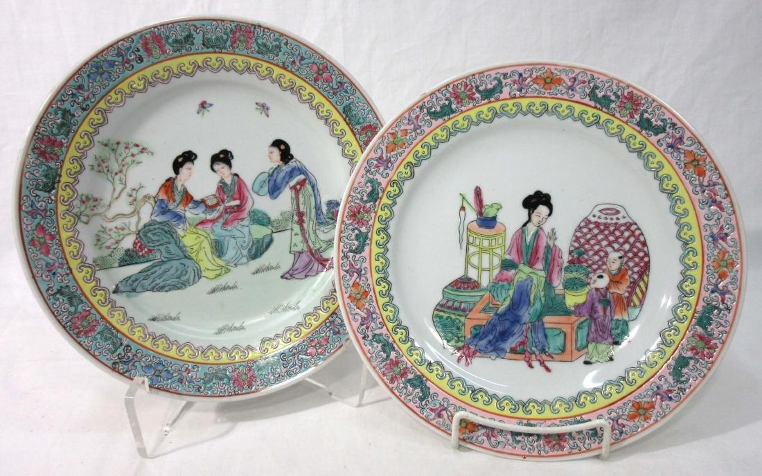 2 Oriental Plates
