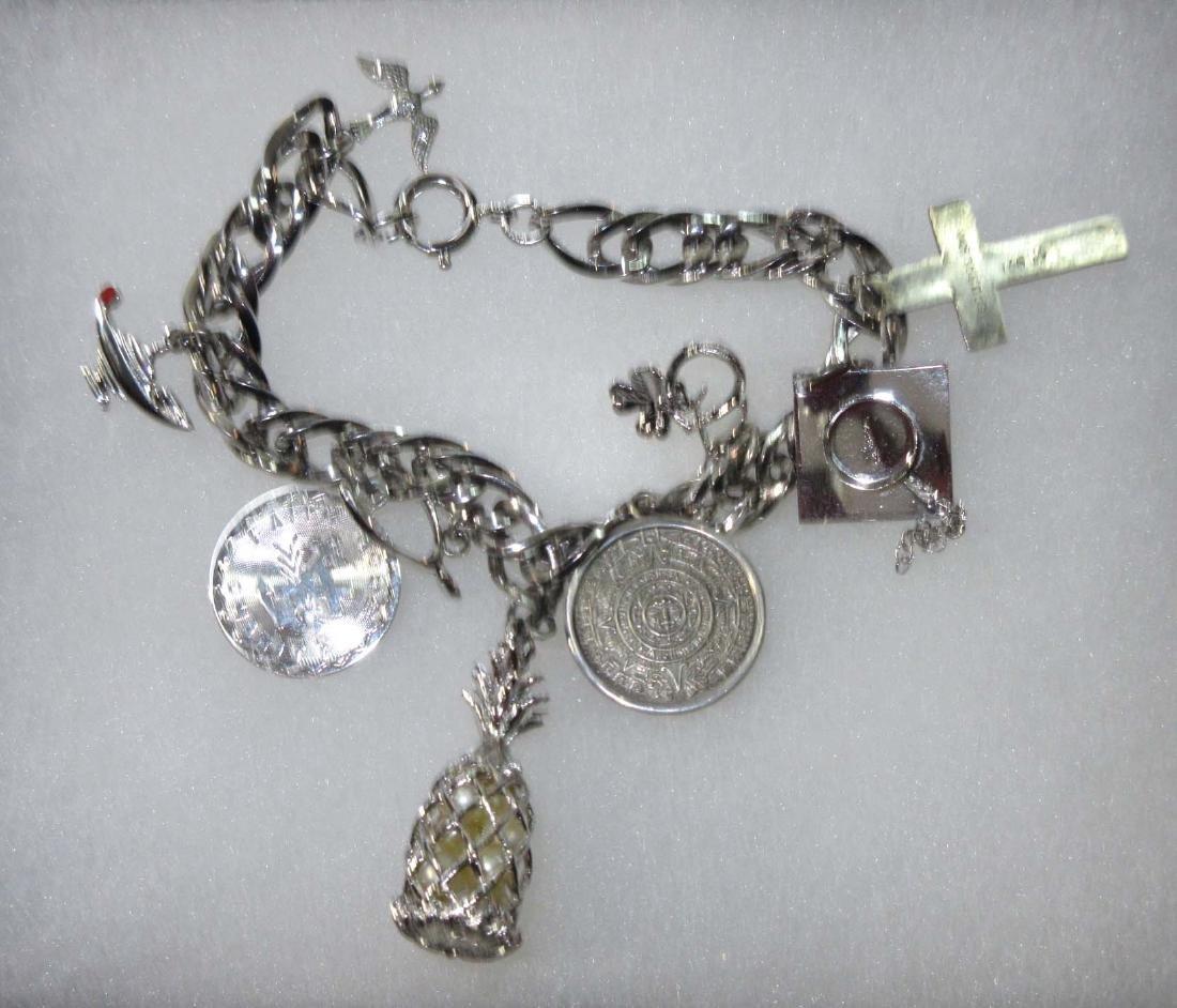 Sterling Charm Bracelet w/ Sterling Charms