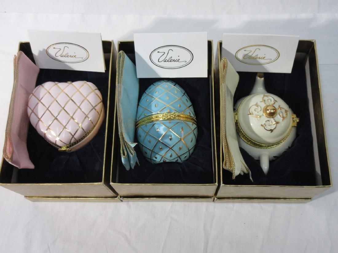 3 Porcelain Dresser Boxes