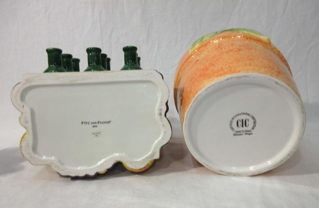 2pc Sunflower & Wine Cookie Jars - 3