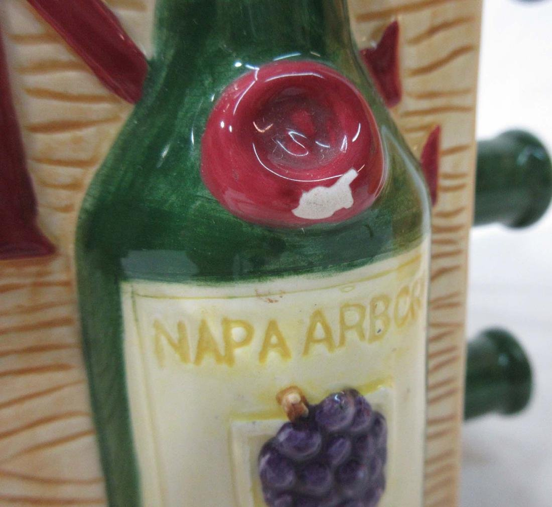 2pc Sunflower & Wine Cookie Jars - 6