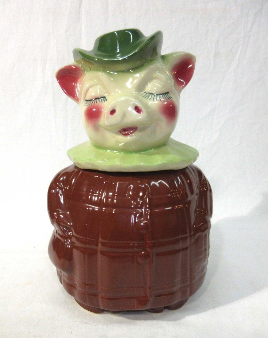 Shawnee Pig Cookie Jar Bank Girl