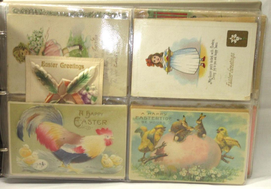 Album w/ 112 Easter Postcards - 2