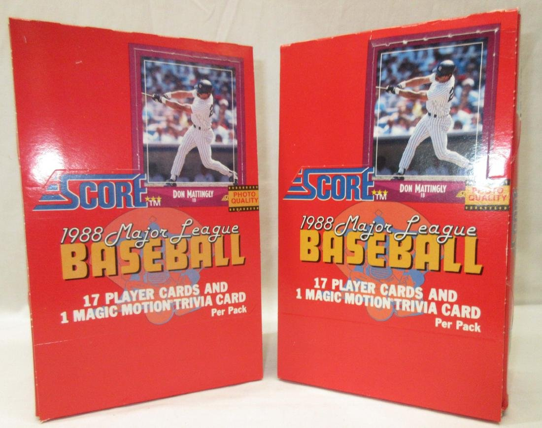 (2) 1988 Factory Boxes Score Baseball Cards