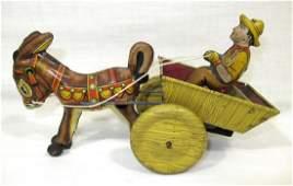 Marx Keywind Balky Mule Toy, Running
