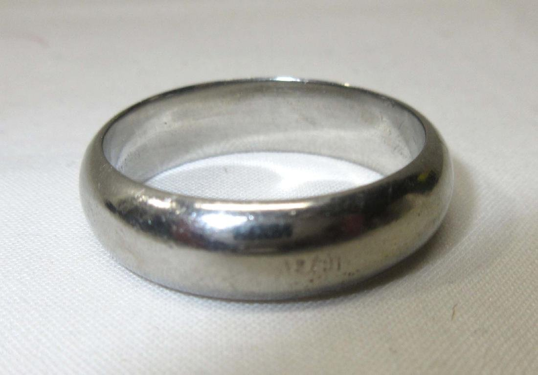 White Gold Tested 14K Sz. 11 Ring - 2