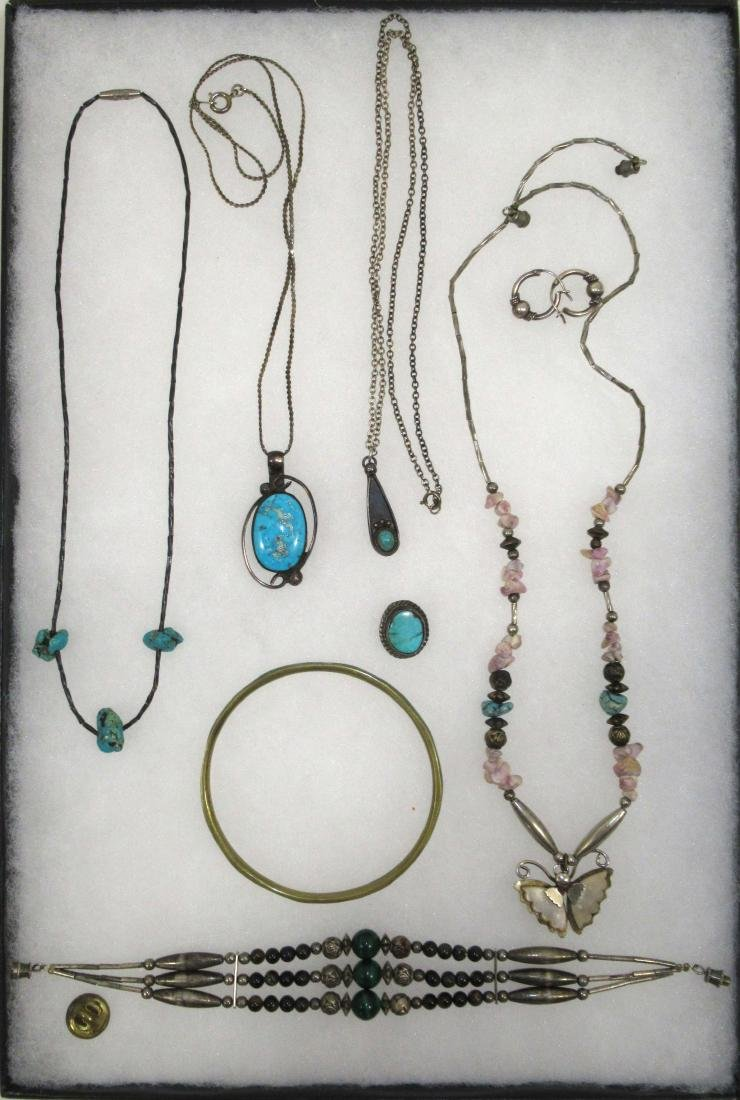 Turquoise & Malachite Indian Jewelry