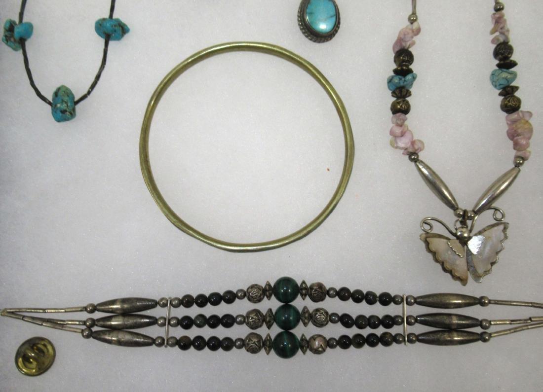 Turquoise & Malachite Indian Jewelry - 2