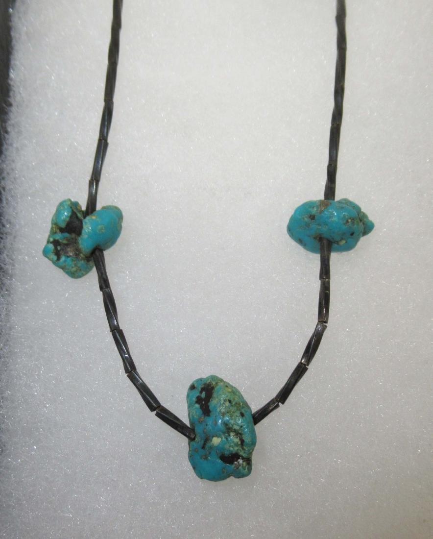 Turquoise & Malachite Indian Jewelry - 3