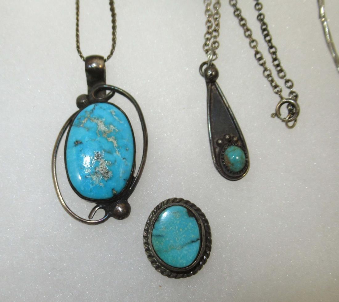 Turquoise & Malachite Indian Jewelry - 4