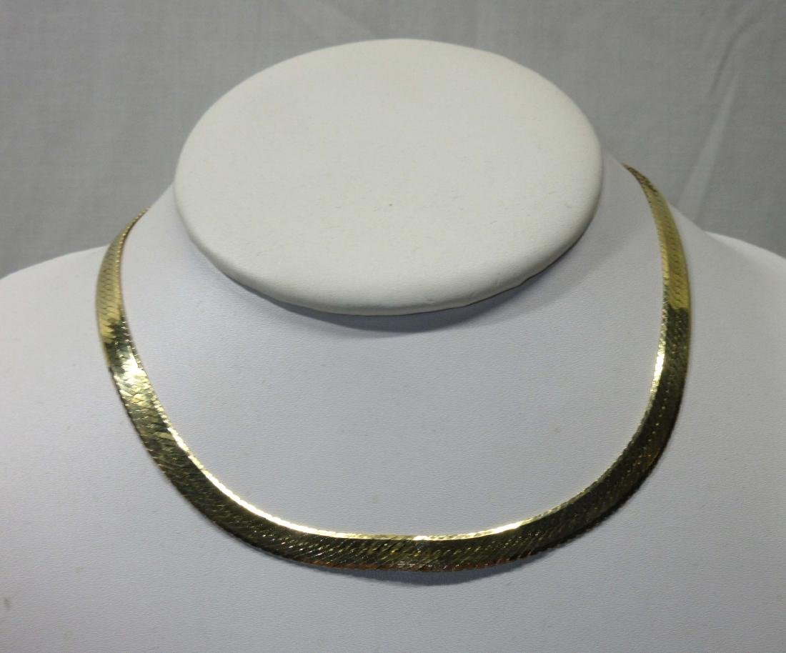 14K Gold Italy Necklace 17.5gm