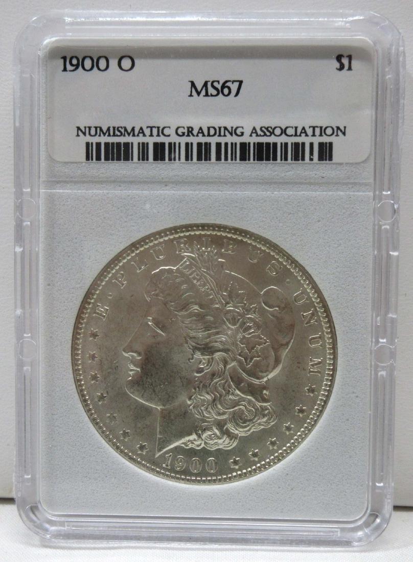 1900-O Silver Dollar NGA MS67