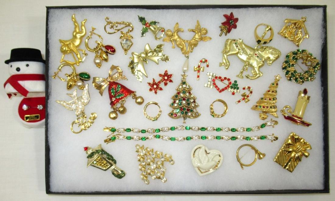 Quality Christmas Jew. 14kt E.P.,CZ, Lenox
