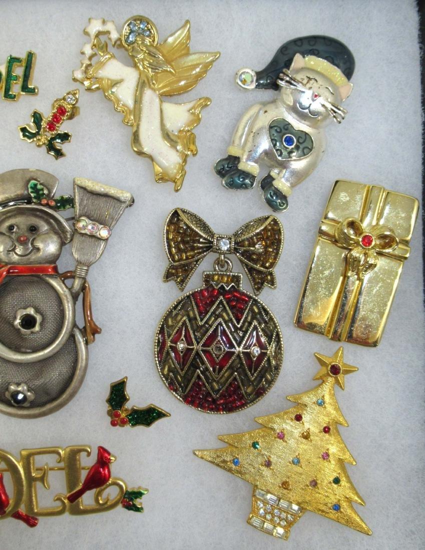 Designer Sgnd Vtg Christmas Jewelry, 14pc - 3