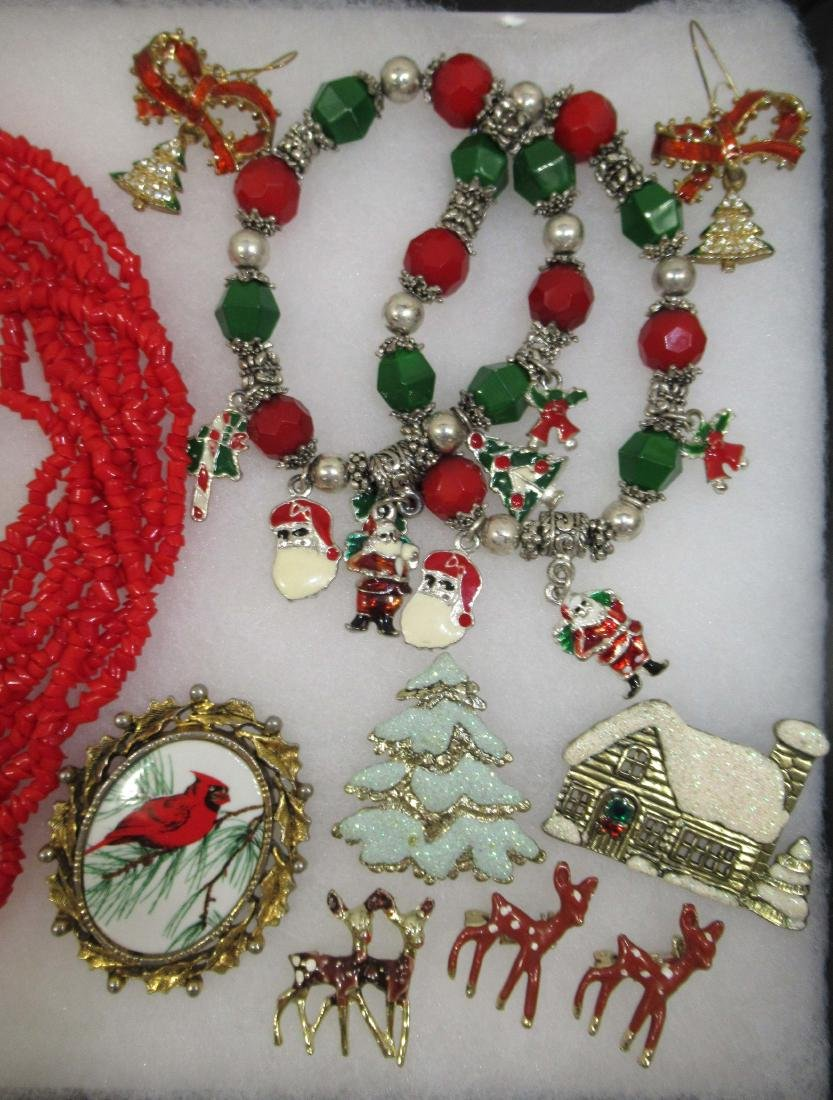 Vtg Christmas 17pc Jewelry - 3