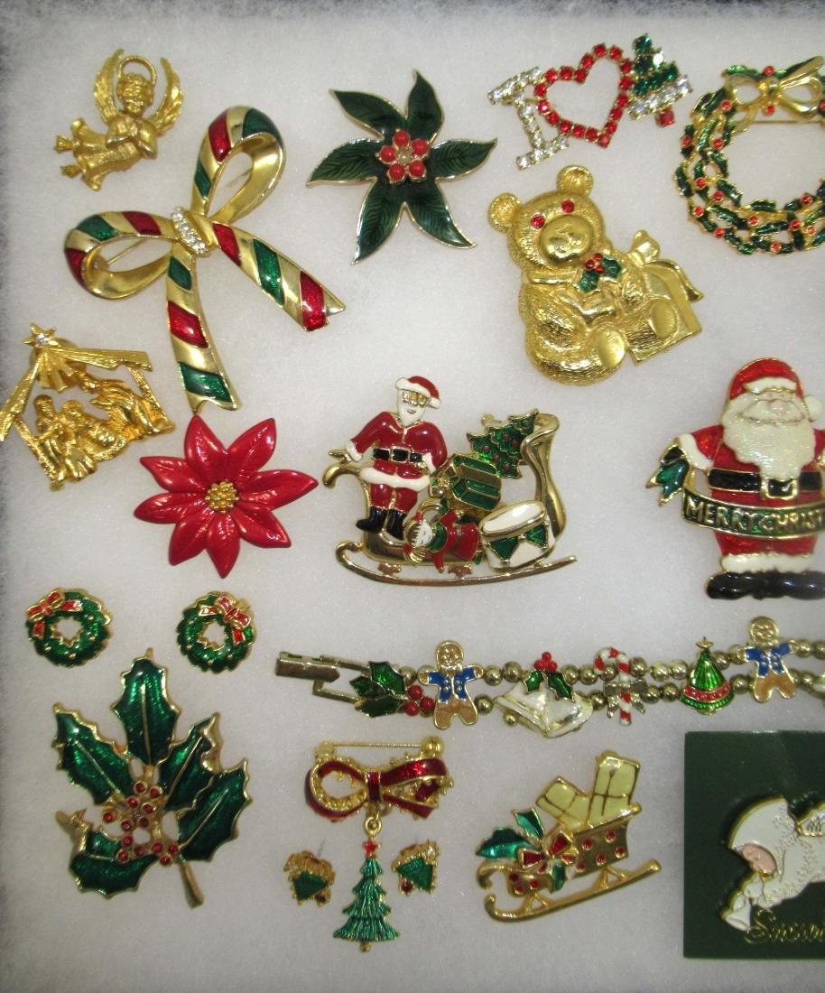 Nice! Enameled Christmas Jewelry 25pc - 2
