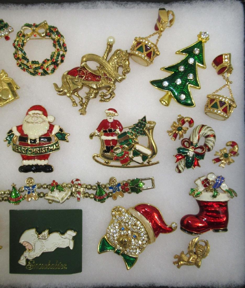 Nice! Enameled Christmas Jewelry 25pc - 3