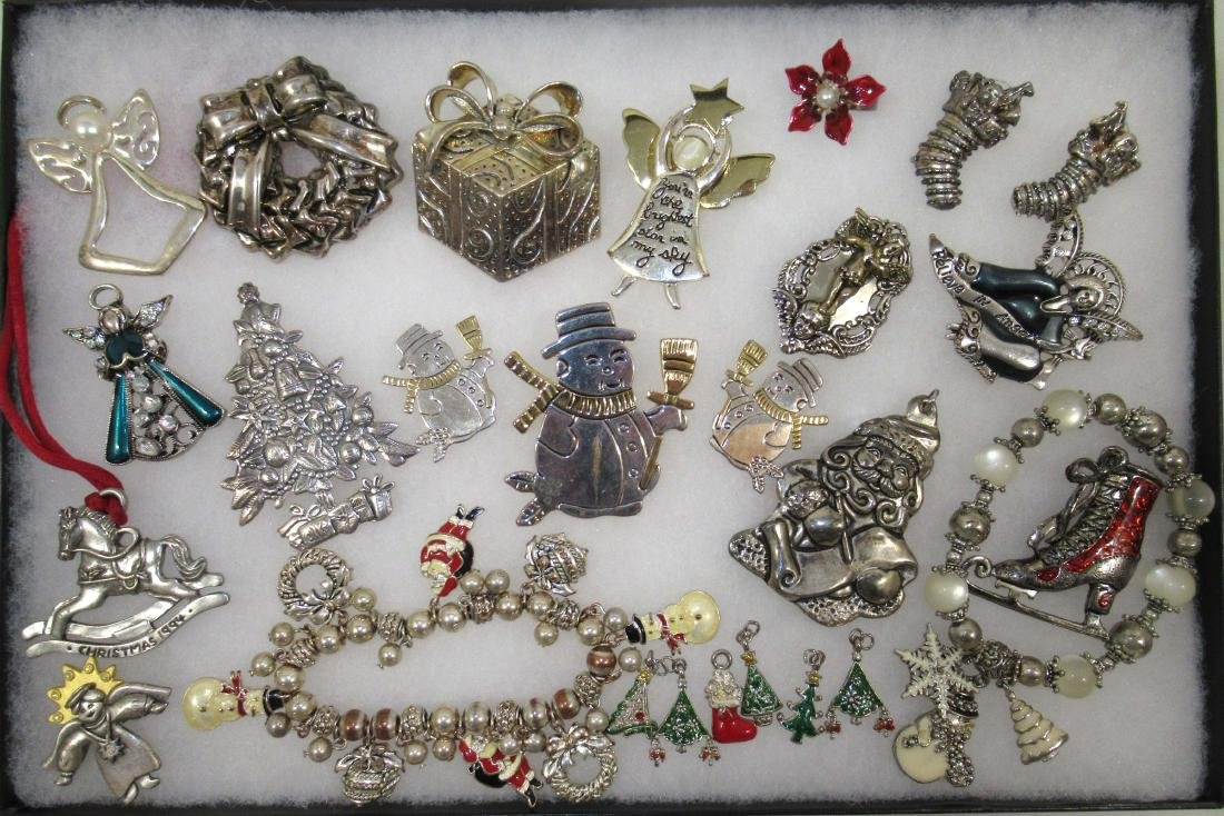 2 Tone Christmas Jewelry, Charms, Angels & More