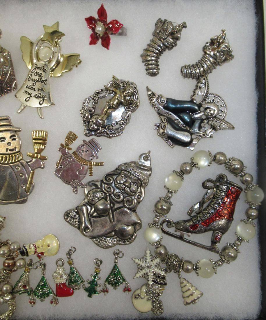 2 Tone Christmas Jewelry, Charms, Angels & More - 3