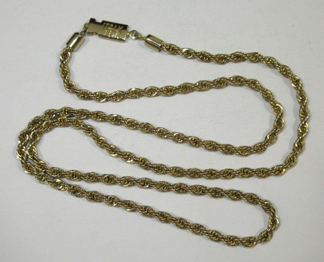 14Kt Italy Gold Rope Necklace 12.5g - 2