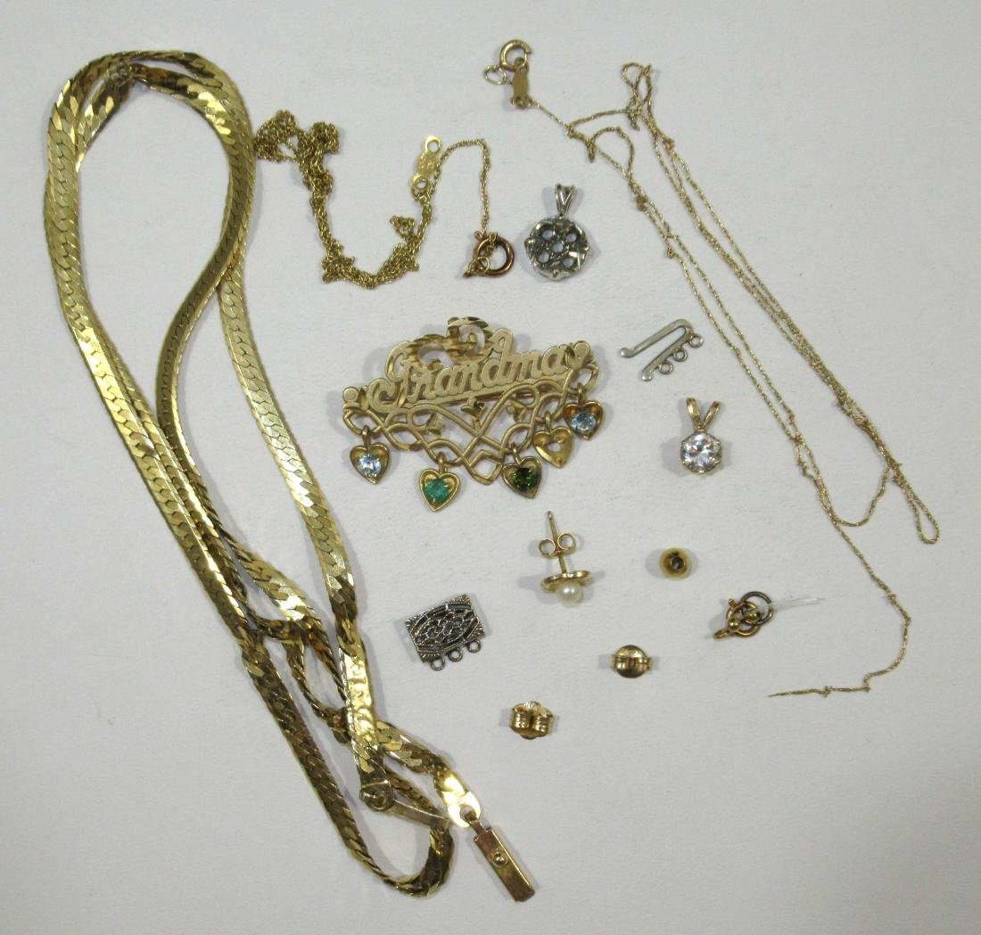 10K & 14kdt Gold Parts & Pieces 16.g