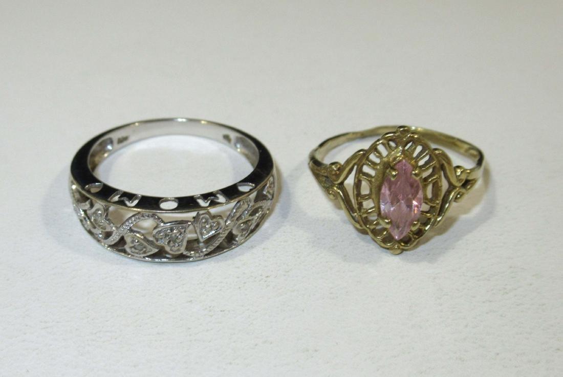 14kt Pin 3.7g,10kt Rings & Earrings 4g - 2