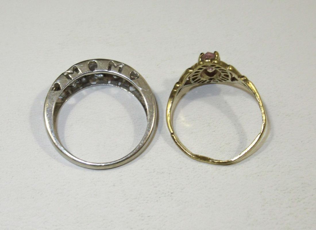 14kt Pin 3.7g,10kt Rings & Earrings 4g - 3