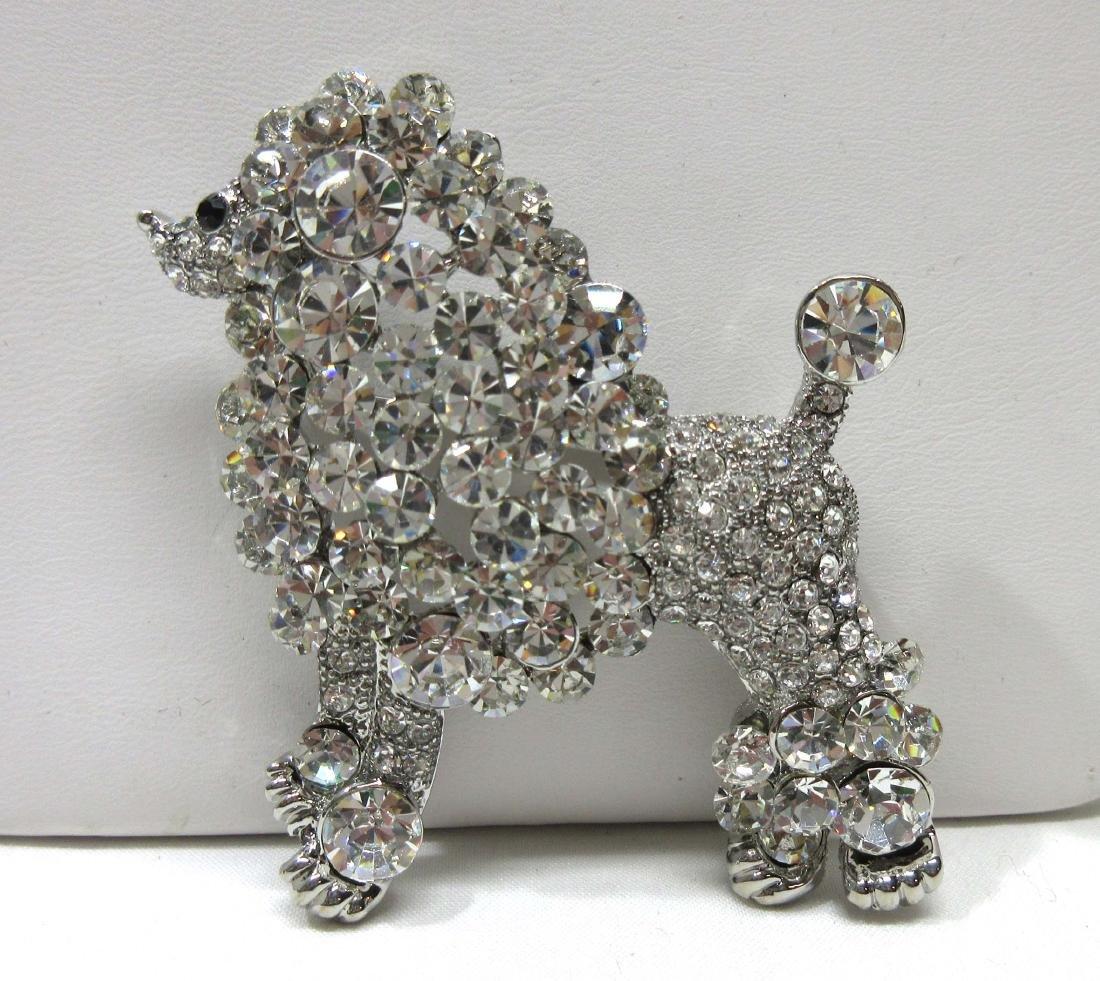 Costume Poodle Brooch