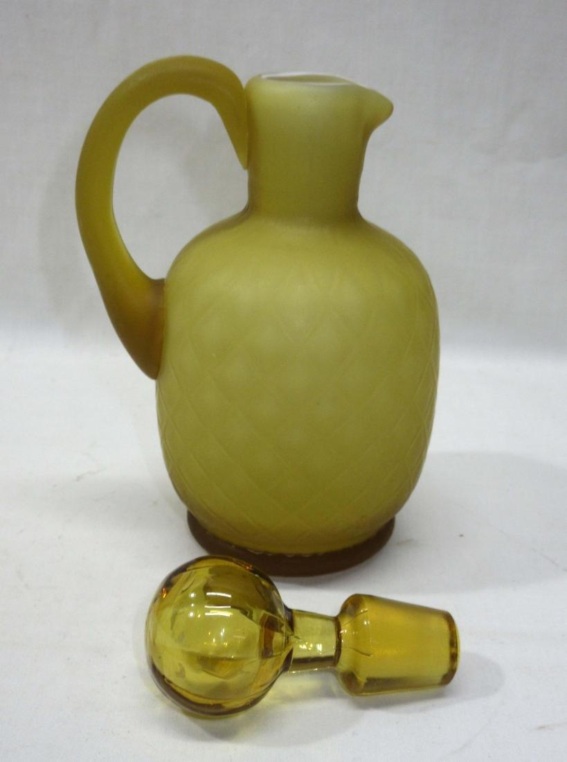 Quilted Velvet Cased Glass Cruet - 2