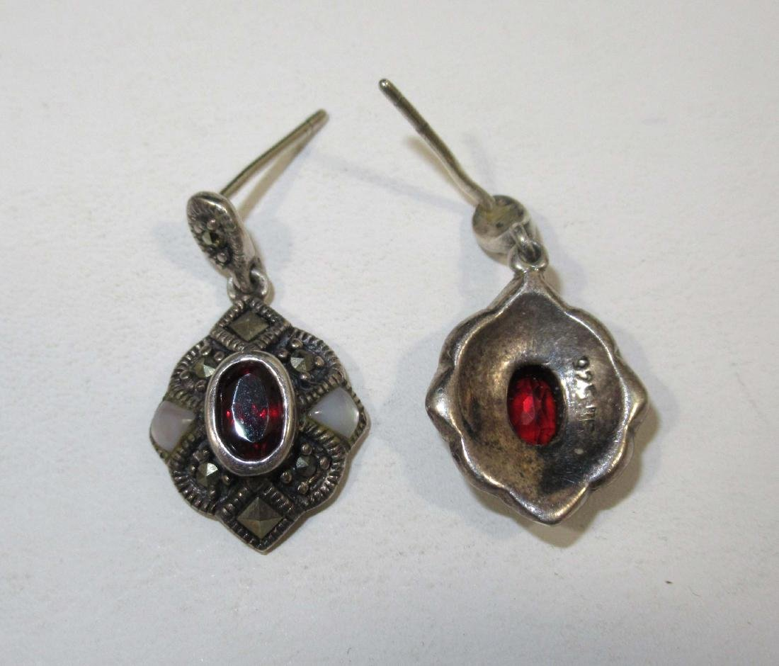 4pc. Marcasite & Garnet Jewelry - 2