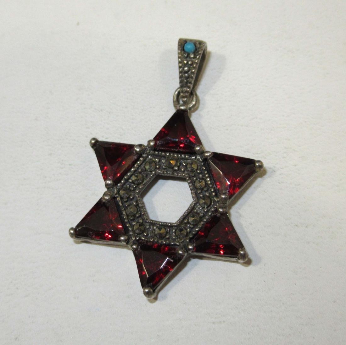 4pc. Marcasite & Garnet Jewelry - 3
