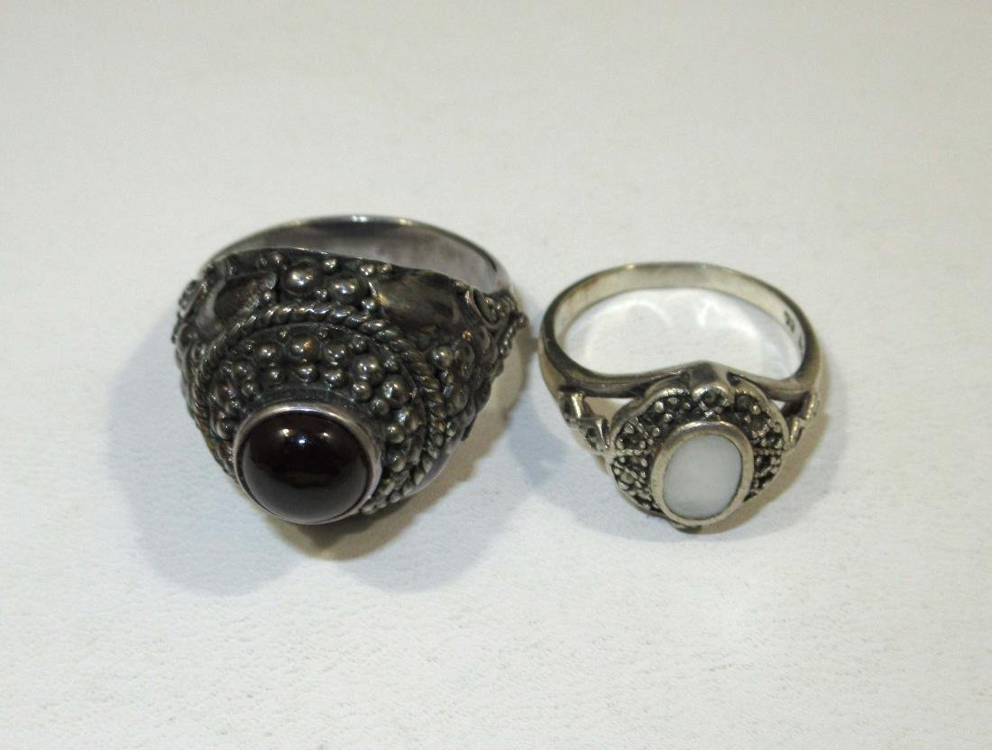 4pc. Marcasite & Garnet Jewelry - 5
