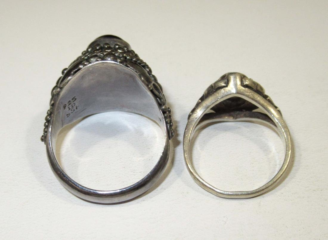 4pc. Marcasite & Garnet Jewelry - 6