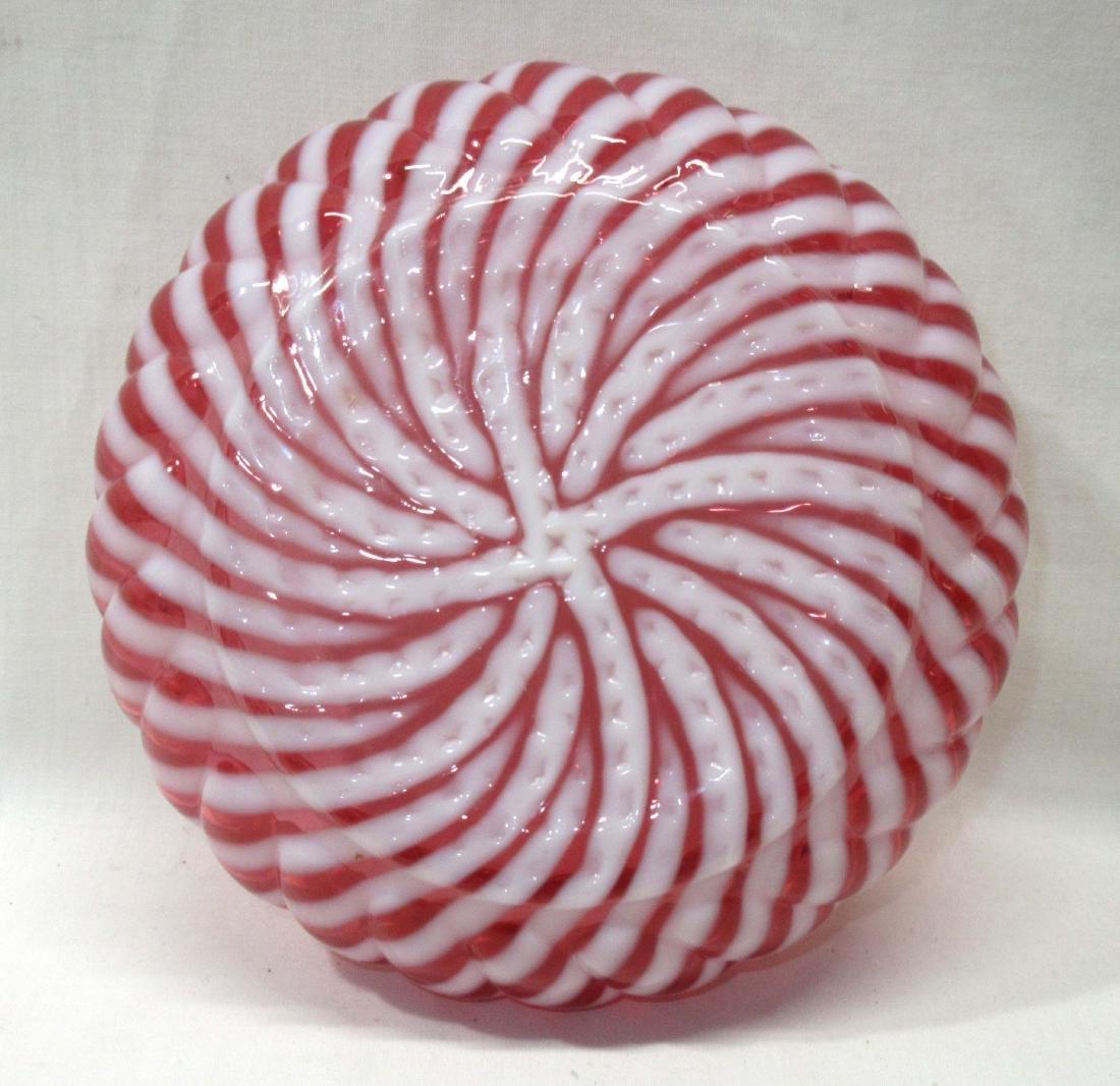Cranberry Opal Swirl Bowl - 2