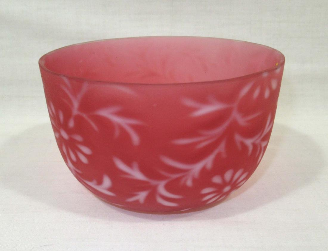 Cranberry Satin Opal. Bowl
