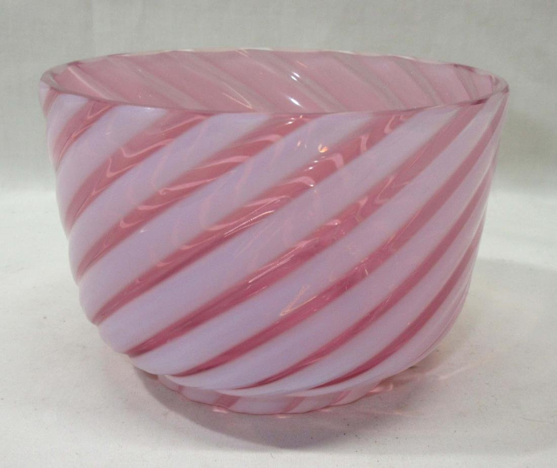 Cranberry Opal Swirl Bowl