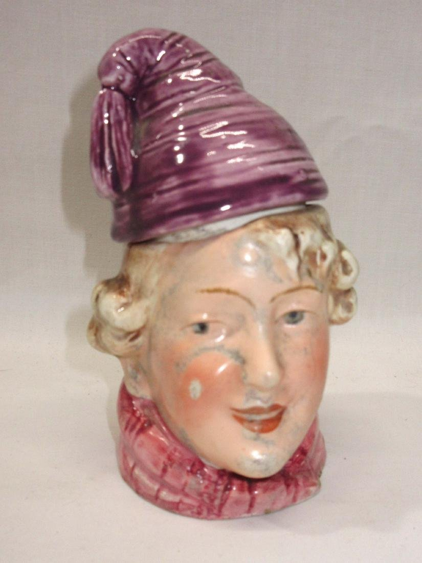 Porcelain Boy Tobacco Jar