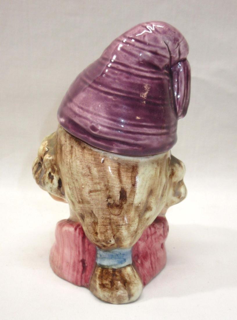Porcelain Boy Tobacco Jar - 2