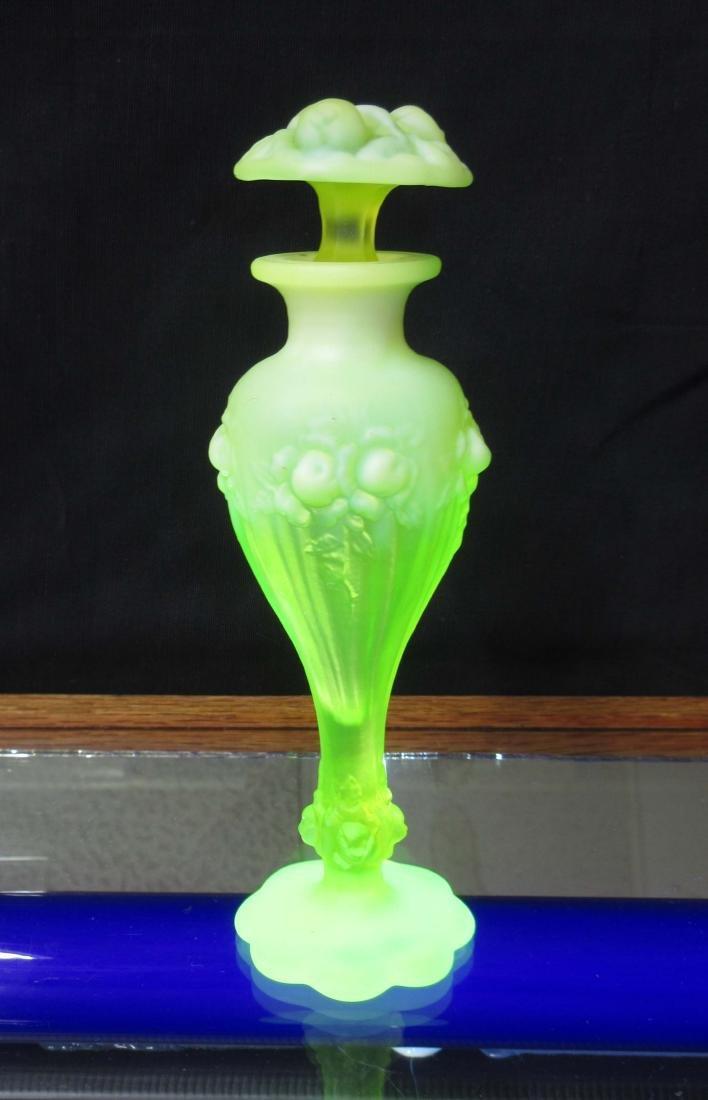 Satin Vaseline Glass Perfume Bottle